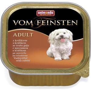 Консервы Animonda Vom Feinsten Adult с кроликом для собак 150г (82980) корм animonda vom feinsten forest кролик 150g для собак 82980