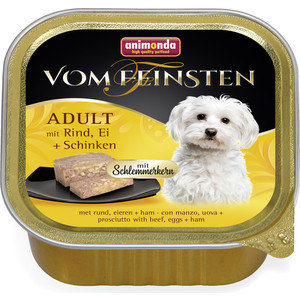 Консервы Animonda Vom Feinsten Adult меню для гурманов с говядиной, яйцом и ветчиной для привередливых собак 150г (82667)