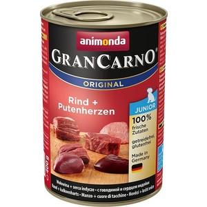 Консервы Animonda Vom Feinsten Gran Carno Original Junior с говядиной и сердцем индейки для щенков и юниоров 400г (82728)