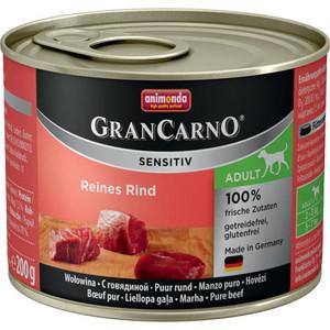 Консервы Animonda Vom Feinsten Gran Carno Sensitiv c говядиной для собак с чувствительным пищеварением 200г (82400) консервы animonda vom feinsten gran carno sensitiv c курицей для собак с чувствительным пищеварением 400г 82410