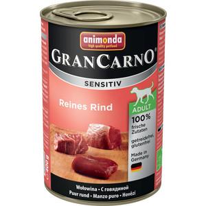Консервы Animonda Vom Feinsten Gran Carno Sensitiv c говядиной для собак с чувствительным пищеварением 400г (82408)