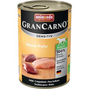 Консервы Animonda Vom Feinsten Gran Carno Sensitiv c индейкой для собак с чувствительным пищеварением 400г (82414) консервы animonda vom feinsten gran carno sensitiv c курицей для собак с чувствительным пищеварением 400г 82410