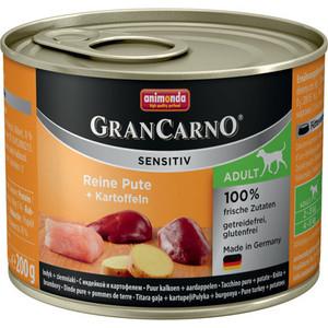 Консервы Animonda Vom Feinsten Gran Carno Sensitiv c индейкой и картофелем для собак с чувствительным пищеварением 200г (82407)