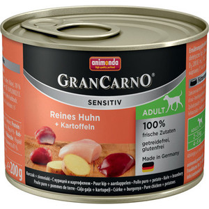 Консервы Animonda Vom Feinsten Gran Carno Sensitiv c курицей и картофелем для собак с чувствительным пищеварением 200г (82403)