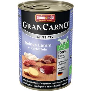 Консервы Animonda Vom Feinsten Gran Carno Sensitiv c ягненком и картофелем для собак с чувствительным пищеварением 400г (82413) консервы animonda vom feinsten gran carno sensitiv c курицей для собак с чувствительным пищеварением 400г 82410