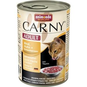 Консервы Animonda CARNY Adult с говядиной, курицей и уткой для кошек 400г (83722)