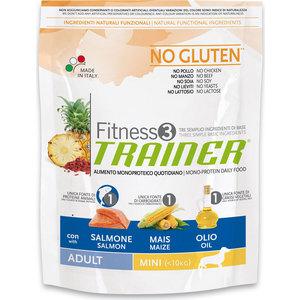 Сухой корм Trainer Fitness3 No Gluten Mini Adult Salmon&Maize без глютена с лососем и кукурузой для собак мелких пород 800г сухой корм trainer fitness3 no gluten medium maxi puppy duck