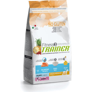 Сухой корм Trainer Fitness3 No Gluten Medium/Maxi Puppy Salmon&Rice без глтена с лососем и рисом дл щенков средних и крупных пород 12,5кг водонагреватель проточный atmor basic 5квт кухня