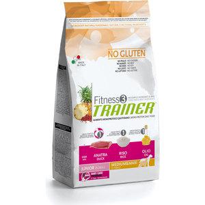 Сухой корм Trainer Fitness3 No Gluten Medium/Maxi Junior Duck&Rice без глютена с уткой и рисом для юниоров (9-24мес) средних и крупных пород 12,5кг knight s 24–hour trainer