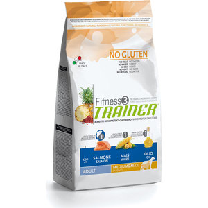 Сухой корм Trainer Fitness3 No Gluten Medium/Maxi Adult Salmon&Maize без глютена с лососем и кукурузой для собак средних и крупных