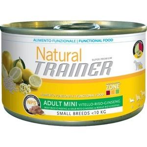 Консервы Trainer Natural Mini Adult Beef, Rice&Ginseng с говядиной, рисом и женьшенем для собак мелких пород 150г