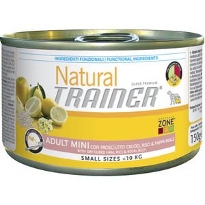 Консервы Trainer Natural Mini Adult Cured Ham, Rice&Royal Jelly с ветчиной, рисом и маточным молочком для собак мелких пород 150г