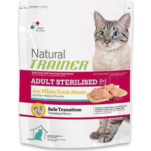 Сухой корм Trainer Natural Adult Sterilised Fresh White Meats с белым мясом для стерилизованных кошек 1,5кг