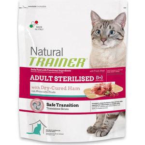 Сухой корм Trainer Natural Adult Sterilised Dry-Cured Ham с ветчиной для стерилизованных кошек 1,5кг