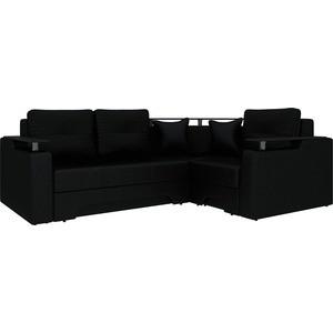 Угловой диван АртМебель Комфорт-4 правый, весь - Легенда черный