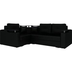 Угловой диван АртМебель Комфорт-4 левый, весь - Легенда черный