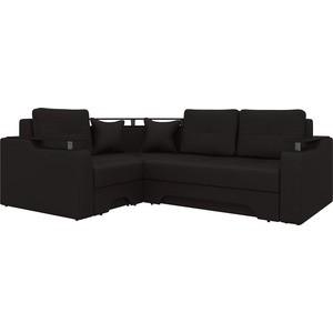 Угловой диван АртМебель Комфорт-5 левый, весь - Легенда коричневый
