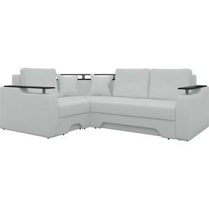 Угловой диван АртМебель Комфорт-6 левый, весь - Легенда белый