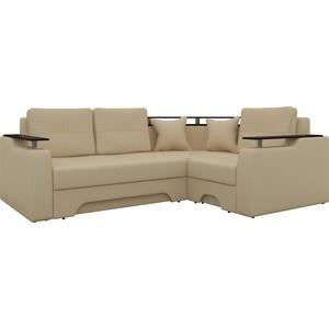 Угловой диван АртМебель Комфорт-7 правый, весь - Легенда беж диван carina угловой с малым канапе цвет классический беж 180 x 210