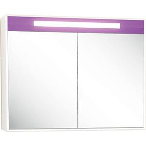 Зеркало Меркана Рондо фиолетовое со светильником, выкл. + розетка (30659)