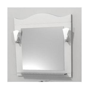 Зеркало Меркана Венеция белое со светильником (30666)