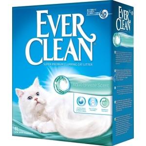 Наполнитель Ever Clean Aqua Breeze Scent с ароматом морского бриза комкующийся для кошек 6л