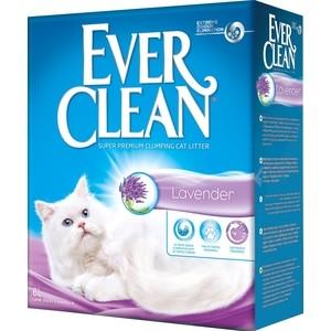 Наполнитель Ever Clean Lavender с ароматом лаванда комкующийся с ароматизатором для кошек 6л минеральный комкующийся наполнитель сибирская кошка ультра для кошек 3л