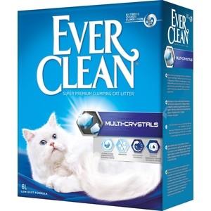 Наполнитель Ever Clean Multi Crystals с кристаллами для контроля запаха комкующийся без ароматизатора для кошек 6л