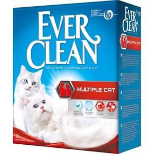 Наполнитель Ever Clean Multiple Cat комкующийся с ароматизатором для нескольких кошек в доме 6л