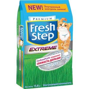 Наполнитель Fresh Step Extreme Carbon plus тройной контроль запаха впитывающий с ароматизатором для кошек 15,8кг
