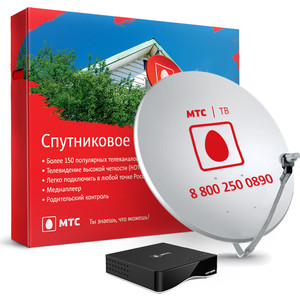 Комплект спутникового ТВ МТС №111 комплект цифрового тв нтв плюс hd simple сибирь