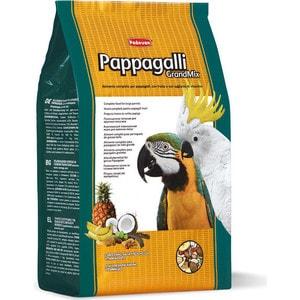 Корм Padovan GRANDMIX Pappagalli комплексный основной для крупных попугаев 2кг padovan для средних попугаев 400г