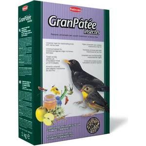 Корм Padovan GRANPATEE Insectes комплексный с насекомыми для насекомоядных птиц 25кг корм для тропических птиц padovan wellness mix полнорационный 1кг