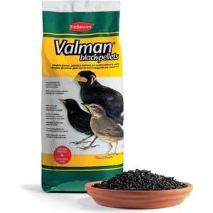 Корм Padovan VALMAN Black Pellets дополнительный для насекомоядных птиц 25кг корм для птиц padovan очищенный овес