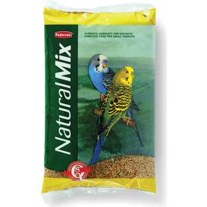 Корм Padovan NATURALMIX Cocorite основной для волнистых попугаев 5кг padovan для средних попугаев 400г