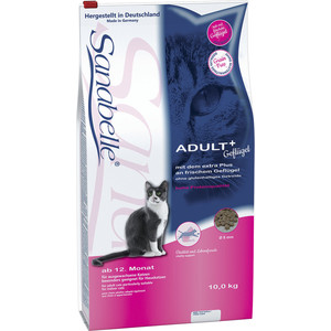 Сухой корм Bosch Petfood Sanabelle Adult Poultry с птицей для взрослых кошек 10кг сухой корм bosch petfood adult maxi для взрослых собак крупных пород 15кг