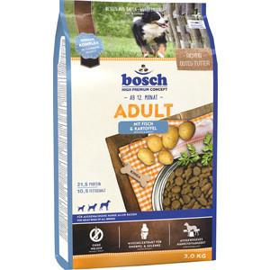 Сухой корм Bosch Petfood Adult Fish & Potato с рыбой и картофелем для собак всех пород 3кг сухой корм bosch petfood totally ferret active корм для хорьков 1 75кг