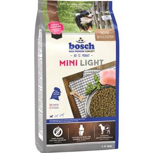 Сухой корм Bosch Petfood Mini Light для собак мелких пород 1кг сухой корм bosch petfood totally ferret active корм для хорьков 1 75кг