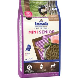 Сухой корм Bosch Petfood Mini Senior для пожилых собак мелких пород 1кг soft line трусы в сеточку
