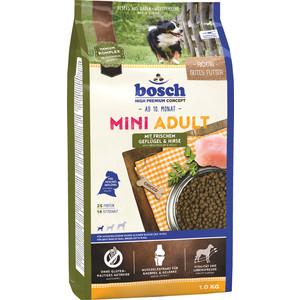 Сухой корм Bosch Petfood Mini Adult Poultry & Millet с птицей и просом для собак мелких пород 1кг сухой корм bosch petfood adult maxi для взрослых собак крупных пород 15кг