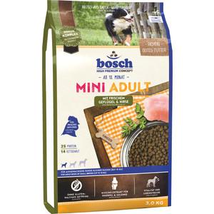 Сухой корм Bosch Petfood Mini Adult Poultry & Millet с птицей и просом для собак мелких пород 3кг сухой корм bosch petfood totally ferret active корм для хорьков 1 75кг