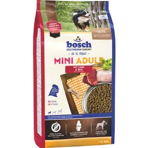 Сухой корм Bosch Petfood Mini Adult Lamb & Rice с ягнёнком и рисом для собак мелких пород 1кг сухой корм happy dog mini adult 1 10kg neuseeland lamb