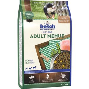 Сухой корм Bosch Petfood Adult Menu для взрослых собак всех пород 3кг сухой корм bosch petfood adult maxi для взрослых собак крупных пород 15кг