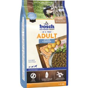 Фотография товара сухой корм Bosch Petfood Adult Fish & Potato с рыбой и картофелем для собак всех пород 1кг (608444)