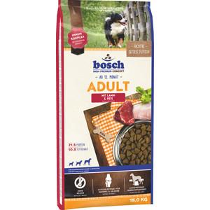 Сухой корм Bosch Petfood Adult Lamb & Race с ягнёнком и рисом для взрослых собак 15кг сухой корм bosch petfood adult maxi для взрослых собак крупных пород 15кг