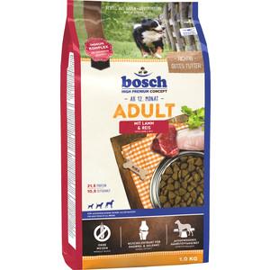 Сухой корм Bosch Petfood Adult Lamb & Race с ягнёнком и рисом для взрослых собак 1кг сухой корм bosch petfood totally ferret active корм для хорьков 1 75кг