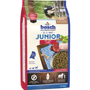 Сухой корм Bosch Petfood Junior Lamb & Rice с ягнёнком и рисом для щенков 1кг
