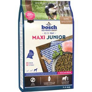 Сухой корм Bosch Petfood Junior Maxi для щенков крупных пород 3кг сухой корм bosch petfood totally ferret active корм для хорьков 1 75кг