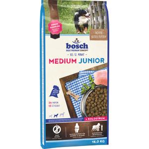 цены  Сухой корм Bosch Petfood Junior Medium для щенков средних пород 15кг