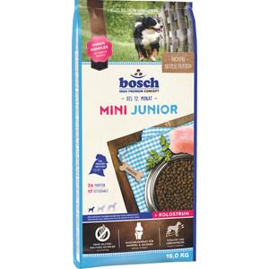 Сухой корм Bosch Petfood Junior Mini для щенков мелких пород 15кг сухой корм bosch petfood totally ferret active корм для хорьков 1 75кг